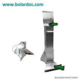 Bolardo con pedal para gel hidroalcohólico Mod. Industrial