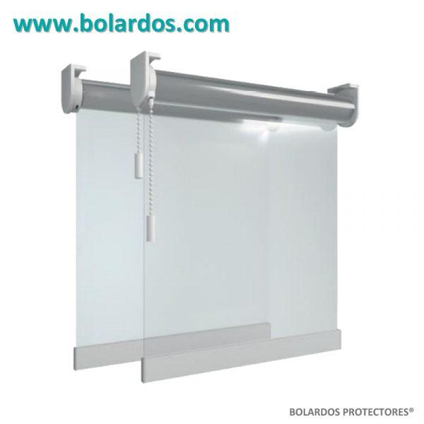 Cortina enrollable transparente